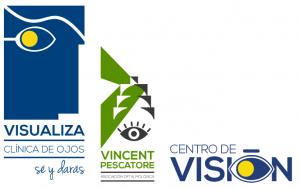logotipos visualiza, vincent pescatore, centro de visión