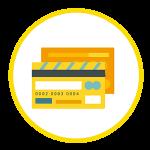 icono que representa tarjeta de crédito y debito