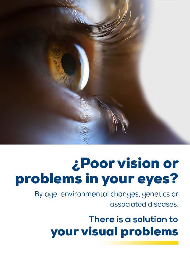 Imagen principal para dispositivos móviles: la solución a tus problemas visuales los encuentras en visualiza