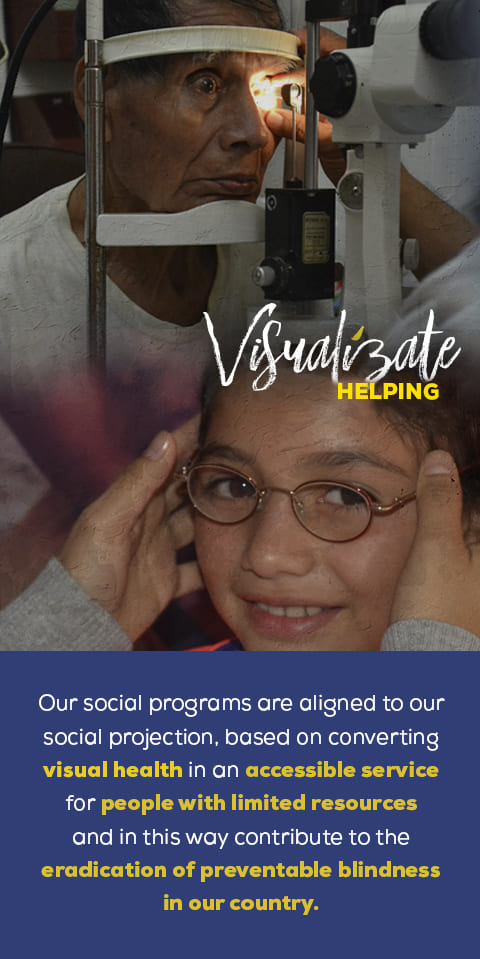 Imagen promocional sobre nuestros programas sociales visualízate ayudando