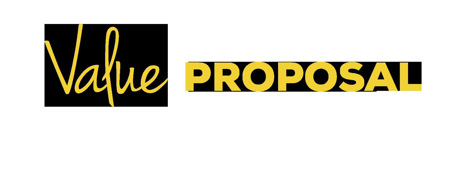 imagen con texto: value proposal