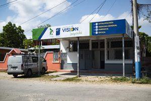 fotografía de la parte exterior de Centro de Visión sayaxche